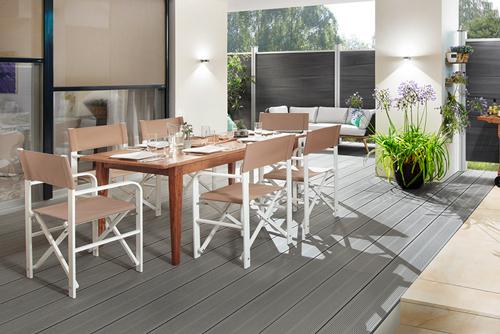 Outdoor directors chair aluminium white